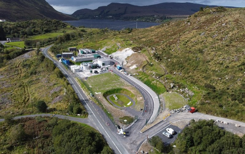 Coffey Project - Aerial View of Lough Talt Water Treatment Plant - October 2020